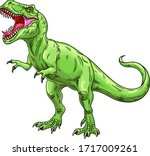 Green Roaring Tyrannosaurus....