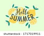 hello summer hand sketched... | Shutterstock .eps vector #1717019911
