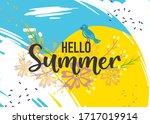 hello summer hand sketched... | Shutterstock .eps vector #1717019914
