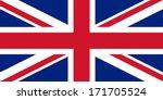 british union jack flag... | Shutterstock . vector #171705524