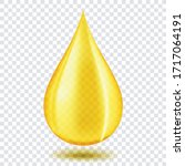 oil drop or honey isolated on... | Shutterstock .eps vector #1717064191