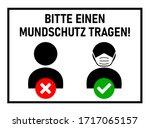 """bitte einen mundschutz tragen  """"...   Shutterstock .eps vector #1717065157"""
