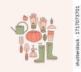 gardening tool abstract... | Shutterstock .eps vector #1717073701