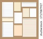 simple paper notepads desing ... | Shutterstock .eps vector #1717087927