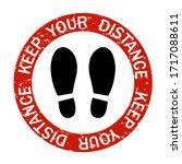 social distancing keep distance ... | Shutterstock . vector #1717088611
