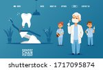 dental clinic website  dentist... | Shutterstock .eps vector #1717095874