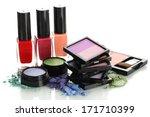 beautiful bright eye shadows... | Shutterstock . vector #171710399
