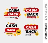 cashback label tag collection... | Shutterstock .eps vector #1717113241