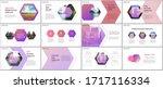 minimal presentations design ... | Shutterstock .eps vector #1717116334