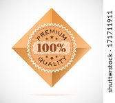 label with a sign 100 percent | Shutterstock .eps vector #171711911