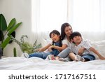 Happiness Of Asian Family With...