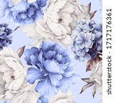 seamless floral pattern with... | Shutterstock . vector #1717176361