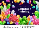 crystals and gems  natural... | Shutterstock .eps vector #1717179781