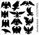 Heraldic Eagle  Vector Icons O...