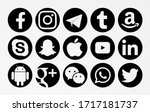 Small photo of Valencia, Spain - February 16, 2020: Collection of popular social media logos printed on paper: Facebook, Instagram, Telegram, Tumblr, Skype, Snapchat, Apple, Google Plus, Android, WeChat,WhatsApp.
