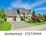 big custom made luxury house... | Shutterstock . vector #171719444