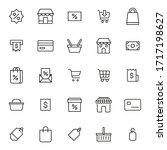 simple set of shop modern thin... | Shutterstock .eps vector #1717198627