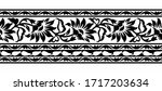 seamless black and white floral ... | Shutterstock .eps vector #1717203634