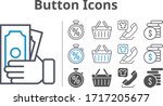 button icon set included money  ...