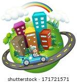 illustration of a boy... | Shutterstock . vector #171721571