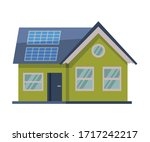 modern green eco house with...   Shutterstock .eps vector #1717242217