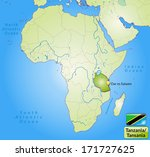 map of tanzania with main... | Shutterstock . vector #171727625