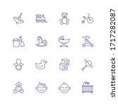 Childhood Icons. Set Of Line...