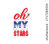 oh my stars. fourth of july... | Shutterstock .eps vector #1717283524