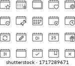 Set Of Calendar Icons  Year ...