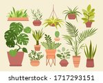 plant in pot vector... | Shutterstock .eps vector #1717293151