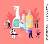 coronavirus prevention measures ... | Shutterstock .eps vector #1717295947