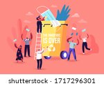 end quarantine  pandemic of... | Shutterstock .eps vector #1717296301