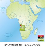 map of angola with main cities... | Shutterstock . vector #171729701