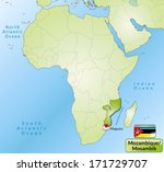 map of mozambique with main... | Shutterstock . vector #171729707