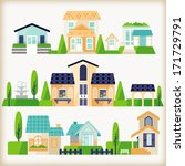 vector of village | Shutterstock .eps vector #171729791