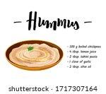 national dish of jewish cuisine ... | Shutterstock .eps vector #1717307164