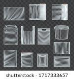 set of realistic transparent... | Shutterstock .eps vector #1717333657