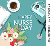 happy nurse day 12 may holiday... | Shutterstock .eps vector #1717340521