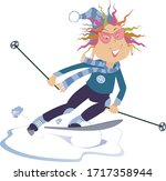 Downhill Skier Woman...