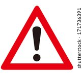 warning sign vector  | Shutterstock .eps vector #171736391