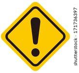 warning sign vector  | Shutterstock .eps vector #171736397