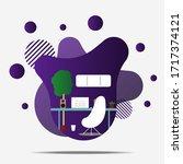 modern violet desktop flat...