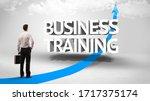 rear view of a businessman... | Shutterstock . vector #1717375174
