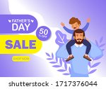 happy father's day celebration. ...   Shutterstock .eps vector #1717376044