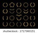 set of different golden... | Shutterstock .eps vector #1717383151