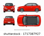 modern subcompact city car... | Shutterstock .eps vector #1717387927