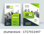 corporate book cover design... | Shutterstock .eps vector #1717411447