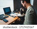 Freelancer Man Working From...