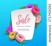 sale background with beautiful... | Shutterstock .eps vector #1717420201