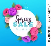 spring sale background with... | Shutterstock .eps vector #1717420477